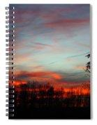December Sunset Spiral Notebook