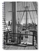 Deck Of Balclutha 3 Masted Schooner - San Francisco Spiral Notebook