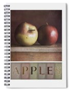 Deco Apples Spiral Notebook