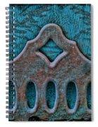 Deco Metal Blue Spiral Notebook