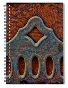 Deco Metal Red Spiral Notebook