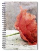 Decor Poppy Red Spiral Notebook