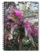 Decorated Palm Spiral Notebook