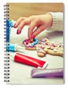 Decorating Gingerbread Man Spiral Notebook