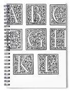 Decorative Initials, C1600 Spiral Notebook