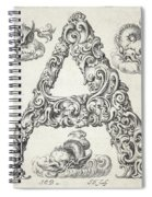 Decorative Letter Type A 1650 Spiral Notebook