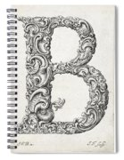 Decorative Letter Type B 1650 Spiral Notebook