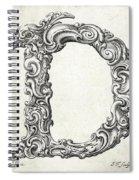 Decorative Letter Type D 1650 Spiral Notebook