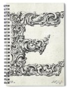 Decorative Letter Type E 1650 Spiral Notebook