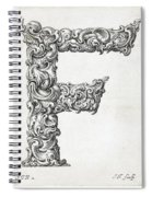 Decorative Letter Type F 1650 Spiral Notebook