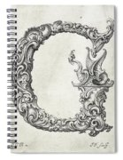 Decorative Letter Type G 1650 Spiral Notebook