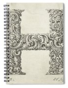 Decorative Letter Type H 1650 Spiral Notebook