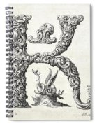 Decorative Letter Type K 1650 Spiral Notebook