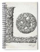 Decorative Letter Type L 1650 Spiral Notebook