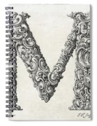 Decorative Letter Type M 1650 Spiral Notebook