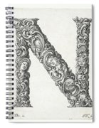 Decorative Letter Type N 1650 Spiral Notebook