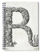 Decorative Letter Type R 1650 Spiral Notebook