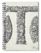 Decorative Letter Type T 1650 Spiral Notebook