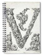 Decorative Letter Type V 1650 Spiral Notebook