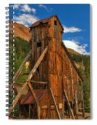 Deep Blue Over Historic Silver And Gold Spiral Notebook