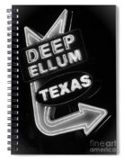 Deep Ellum Black And White Spiral Notebook