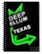 Deep Ellum In Green Spiral Notebook