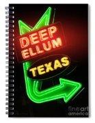 Deep Ellum Red Glow Spiral Notebook