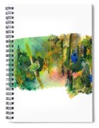Deep Forest Song Spiral Notebook