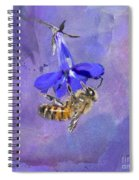 Deep In Purple Spiral Notebook