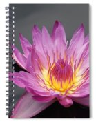 Deep Pink With Yellow... Spiral Notebook