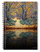 Deep Pond Reflections Spiral Notebook