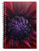 Deep Red To Purple Dahlia Flower Spiral Notebook