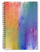 Deep Rich Sherbet Abstract Spiral Notebook