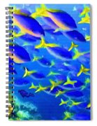 Deep Sea Fish And Diver Spiral Notebook