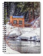 Deep Snow In Spearfish Canyon Spiral Notebook