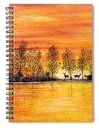 Deer At Sunset Spiral Notebook