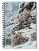 Deer In A Snowy Landscape Spiral Notebook