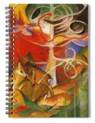 Deer In The Forest 1913 Spiral Notebook