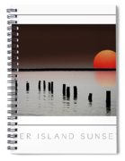 Deer Island Sunset Poster Spiral Notebook