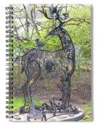 Deer Sculpture Spiral Notebook