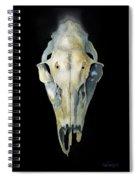 Deer Skull With Aura Spiral Notebook