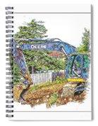 Deere For Hire2 - Excavator - Digger Spiral Notebook