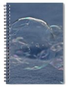 Deflating Ice Spiral Notebook