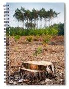 Woods Logging One Stump After Deforestation  Spiral Notebook