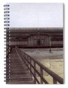 Del Monte Bathhouse From Pier California  Circa 1890 Spiral Notebook