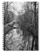 Delaware Canal In Black And White Spiral Notebook