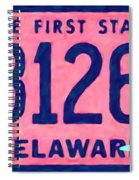 Delaware License Plate Spiral Notebook