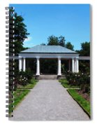 Delaware Park Rose Garden And Pergola Buffalo Ny Oil Painting Effect Spiral Notebook