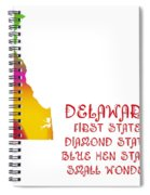 Delaware State Map Collection 2 Spiral Notebook
