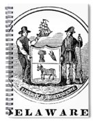 Delaware State Seal Spiral Notebook